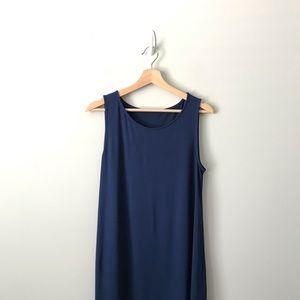 Eileen Fisher Sleeveless Dress Blue Stretch